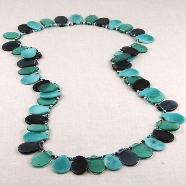 Glass Gentle Sea Breeze Beaded Necklace (India)