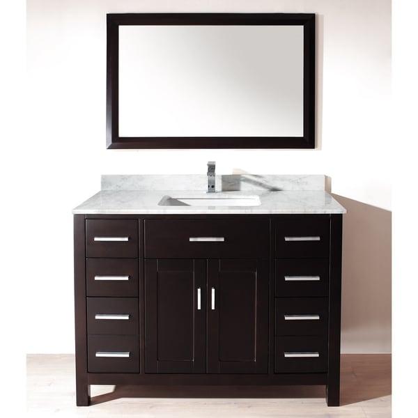 Chloe 48-inch Espresso Carrera Single Sink Vanity Set