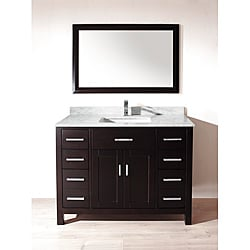 Chloe 48-inch Espresso Carrera Single Sink Vanity Set