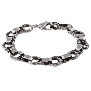 Stainless Steel Men's Angel Wing Link Bracelet