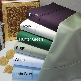 Egyptian Cotton 400 Thread Count Solid Sheet Set