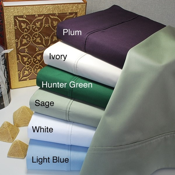 Luxor Treasures Egyptian Cotton 400 Thread Count Solid Sheet Set