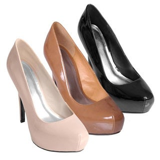 Journee Collection Women's 'Caliber-01' Double Stitched Platform Pumps