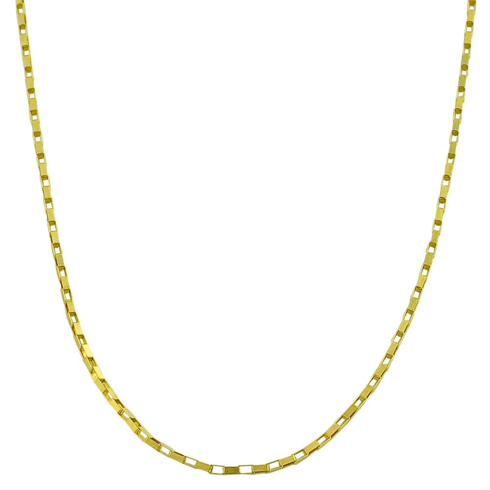 Fremada 14k Yellow Gold 16-inch Lightweight Long Box Chain Necklace