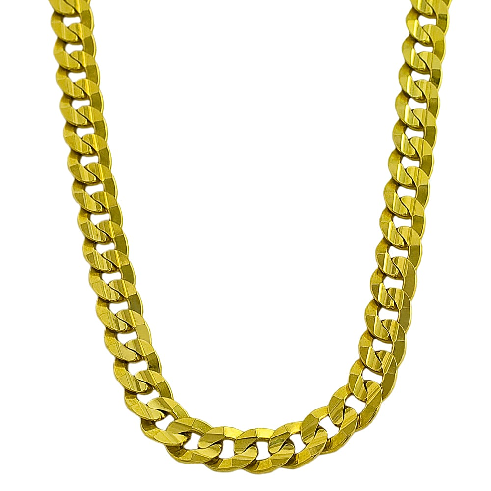 Fremada 14k Yellow Gold 24-inch Flat Curb Chain Necklace