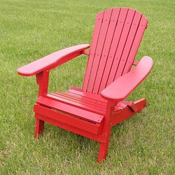 Deluxe Red Adirondack Foldable Chair