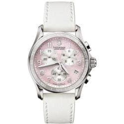 Victorinox Swiss Army Women's 'Chrono Classic' Pink Mother of Pearl Dial