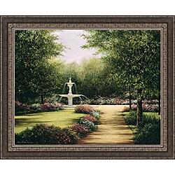 Lene Alston Casey 'Park Fountain' Framed Print Art
