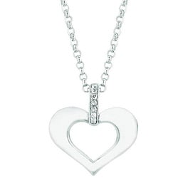 Sterling Silver Diamond Accent Heart Necklace (H-I, I1-I2)