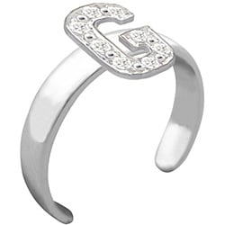 10k Gold Initial 'G' Diamond Accent Toe Ring (G-H, SI2-I1)