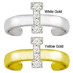 10k Gold Initial 'I' Diamond Accent Toe Ring (G-H, SI2-I1)
