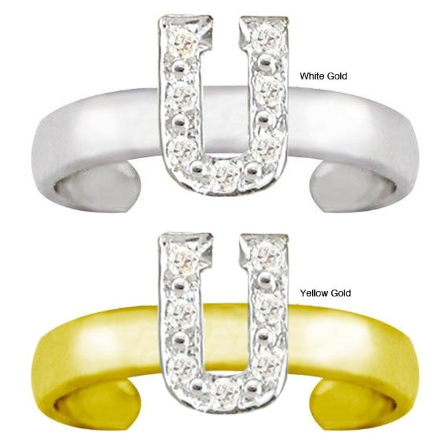 10k Gold 'U' Diamond Accent Toe Ring (G-H, SI2-I1)