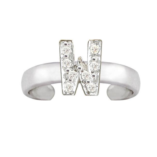 10k Gold 'W' Diamond Accent Toe Ring (G-H, SI2-I1)