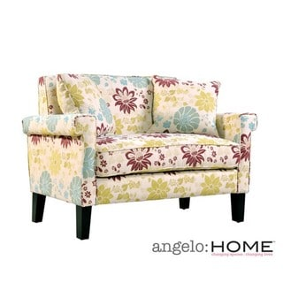 angelo:HOME Ennis Floral Loveseat with Pillows