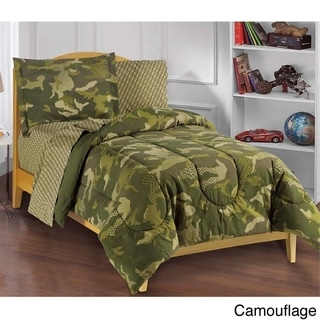 Dream Factory Geo Camo 5-piece Bed in a Bag with Sheet Set