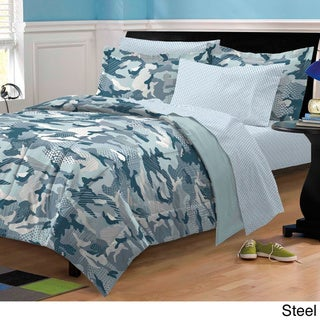 Geo Camo 5-piece Bed in a Bag with Sheet Set