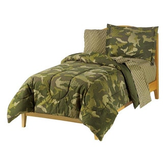 Geo Camo 7-piece Full-size Bed in a Bag with Sheet Set