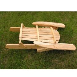 Deluxe Natural Adirondack Clear Seal Coated Folding Chair