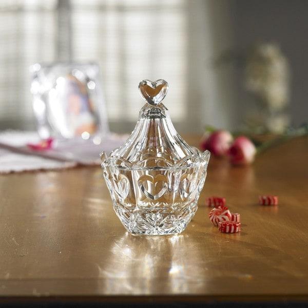 Fifth Avenue Crystal Sweetheart Lidded Candy Jar