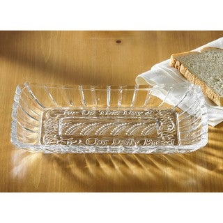 Crystal Clear Alexandria Bread Tray