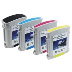 4-piece HP 940XL Black/ Cyan/ Magenta/ Yellow Ink Cartridge (Remanufactured)