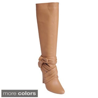 Journee Collection Women's 'Woodsx-61' Knotted Knee-high Boots