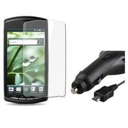 Screen Protector/ Retractable Charger for Sony Ericsson Xperia Play