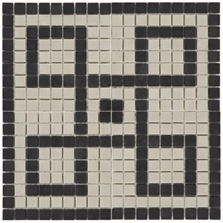 Somertile 14.5x14.5-inch New York Greek Key Decor Porcelain Mosaic Tiles (Case of 5)