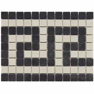 Somertile New York Greek Key Border Porcelain Mosaic Tiles (Pack of 5)