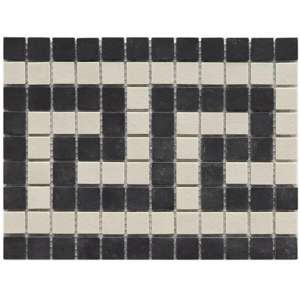 Somertile New York Greek Key Border Porcelain Mosaic Tiles (Pack of 5)