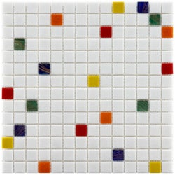 Somertile 12x12-inch Cuivre 1-inch Happy Translucent Glass Mosaic Tiles (Case of 13)