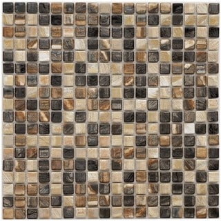Somertile 12x12-in Samoan Mini 9/16-inch Highlands Porcelain Mosaic Tiles (Case of 10)