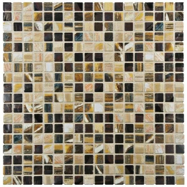 SomerTile 12 x 12-inch Samoan Mini Highlands Porcelain Mosaic Floor and Wall Tile (Case of 10)