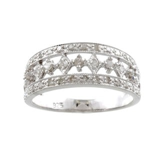 Sterling Silver 2/5ct TDW Diamond Fashion Ring (G-H, I1-I2)