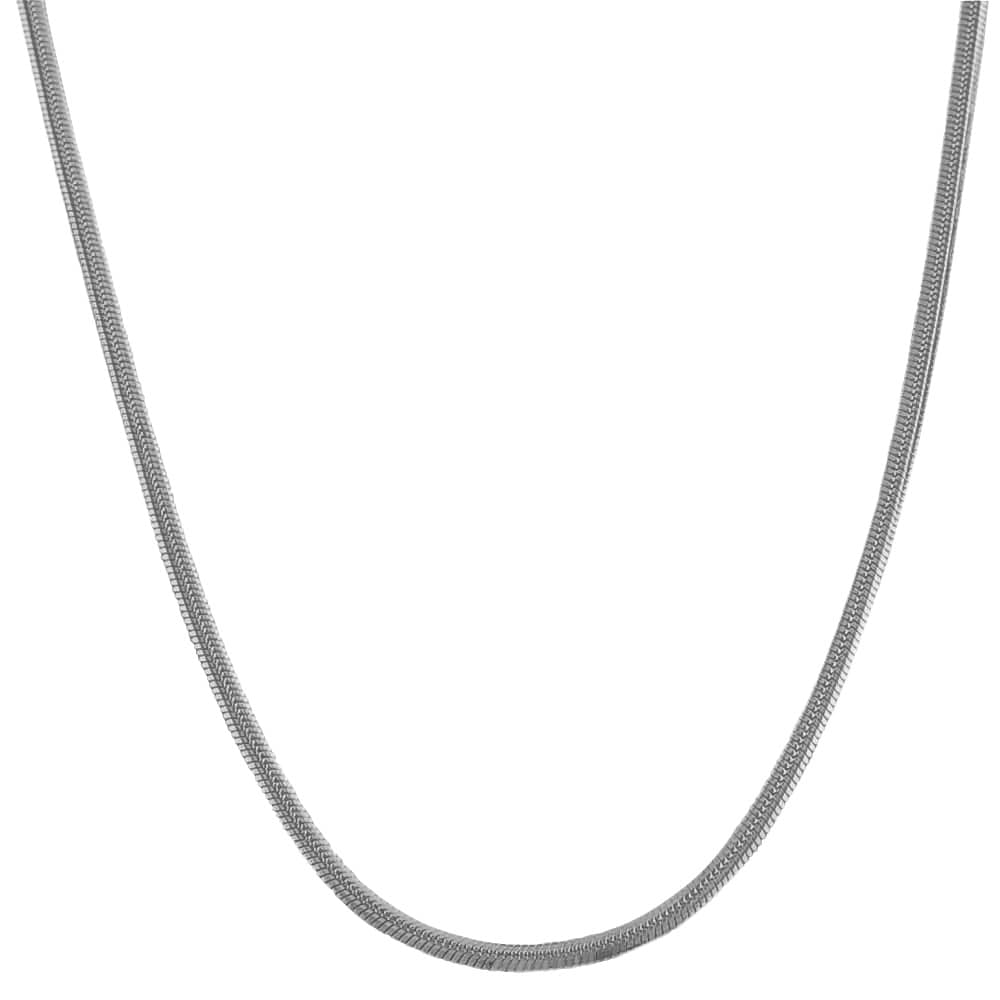Fremada 14k White Gold 18-inch Polished Snake Chain
