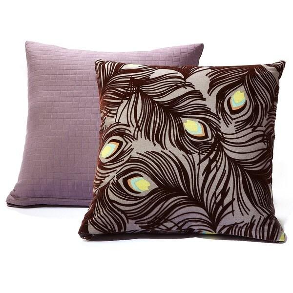 Plush Plumes/ Modern Spa Charcoal Grey Decorative Pillows (Set of 2)