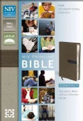 Holy Bible: New International Version Dark Taupe / Graphite Italian Duo-Tone Thinline Bible (Paperback)