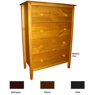 Scandinavia Solid Pine 4-drawer Dresser