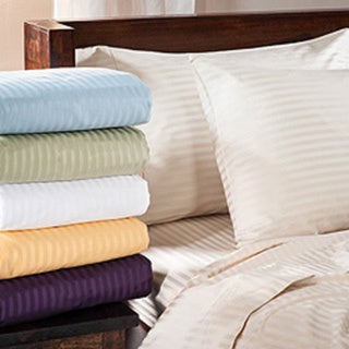 Luxor Treasures Egyptian Cotton 400 Thread Count Deep Pocket Stripe Sheet Set (As Is Item)