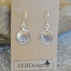 AEB Designs Sterling Silver Cup and Hoop Earrings