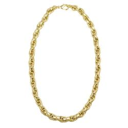 Mondevio 18k Gold over Stainless Steel 24-inch Cable Chain Necklace