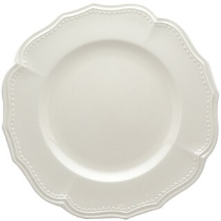 Red Vanilla Classic White 11.25-in Dinner Plates (Set of 4)