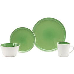 Oneida Color Burst Kiwi Green 16-piece Dinnerware Set