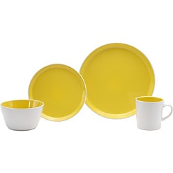 Oneida Color Burst Lemon Drop 16-piece Dinnerware Set