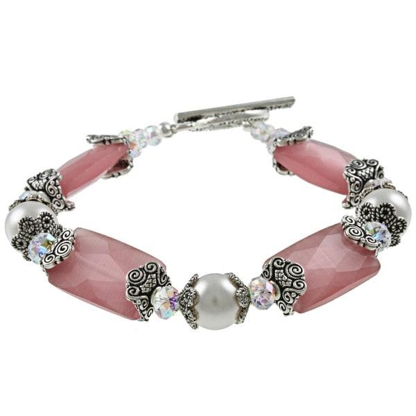 MSDjCASANOVA Pink Elegance Crystal Bracelet