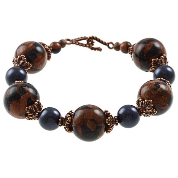 Tierracast Marbled Goldstone Dazzler Crystal Bracelet