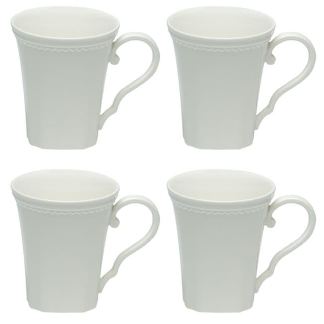 Red Vanilla Classic White 12-ounce Mugs (Set of 4)