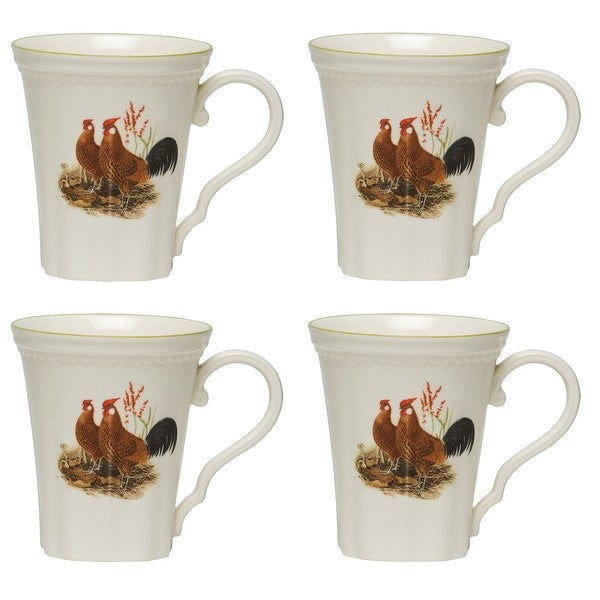 Red Vanilla Classic Rooster 12-oz Mugs (Set of 4)