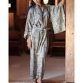 Women's Rayon 'Relax' Batik Robe (Indonesia)