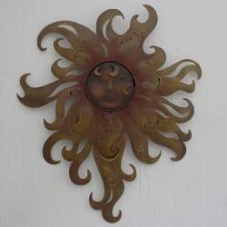 Handcrafted Steel 'Lady of the Sun' Wall Art (Mexico)